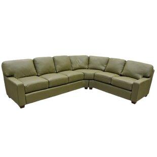 Omnia Leather Albany Sleeper Sectional