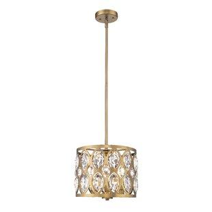 Paniagua 3-Light Lantern Pendant by House of Hampton
