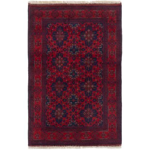 Read Reviews One-of-a-Kind Kaler Hand-Knotted 3'2 x 4'9 Wool Red/Black Area Rug By Isabelline