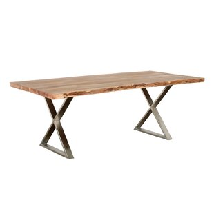 Emblyn Solid Wood Dining Table Union Rustic