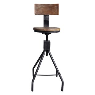 Williston Forge Bolden Adjustable Height Swivel Bar Stool
