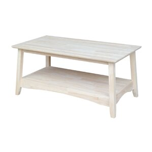 Unfinished Wood Bombay Tall Coffee Table