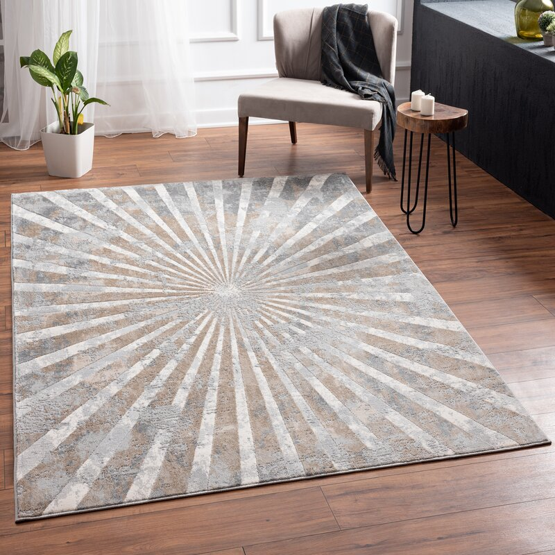 George Oliver Alberty Abstract Gray Area Rug Wayfair