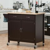 Omeara Kitchen Cart by Highland Dunes