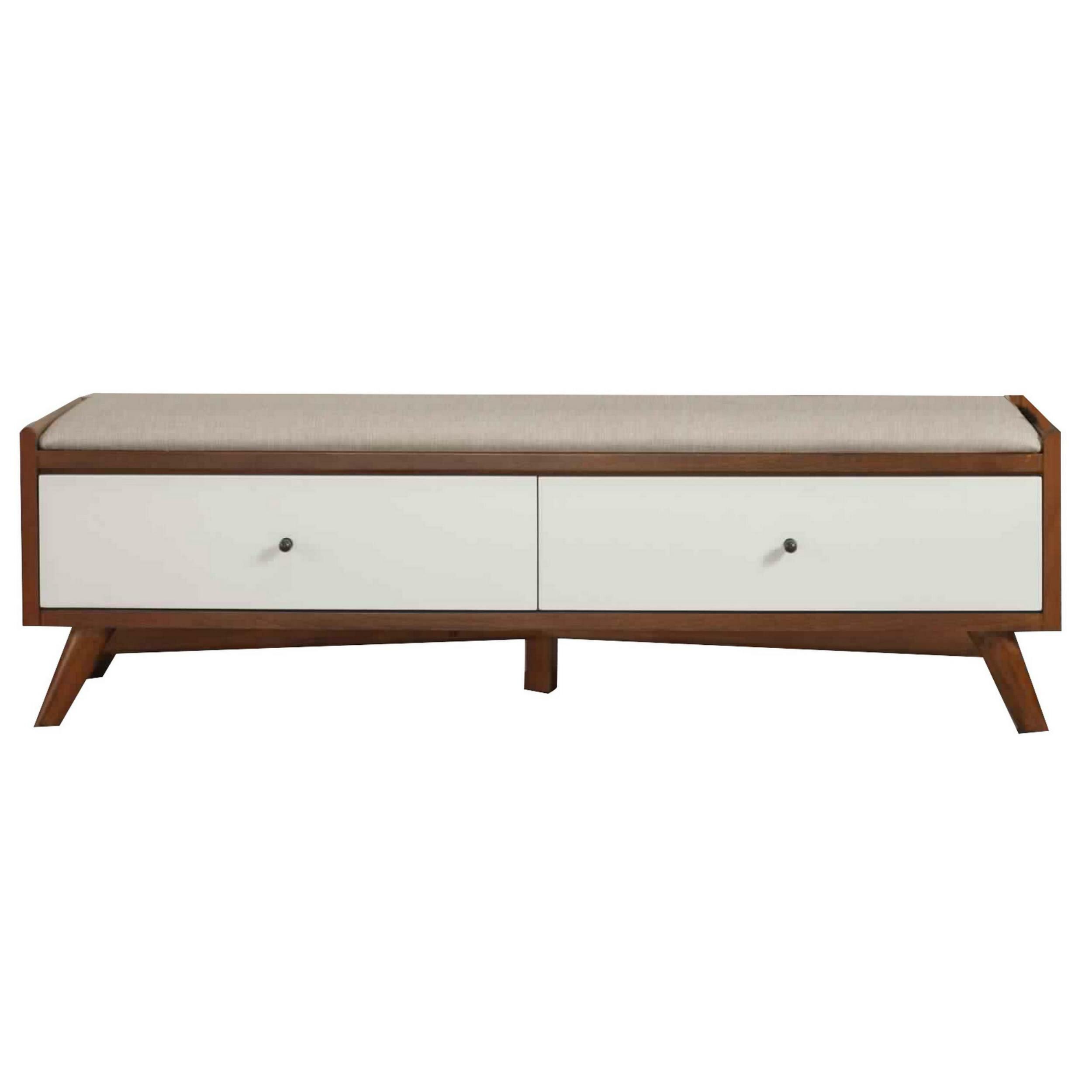 Adel Upholstered Drawer Storage Bench