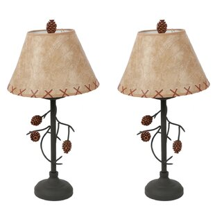 Pine Cone Branch 22.5 Table Lamp (Set of 2)