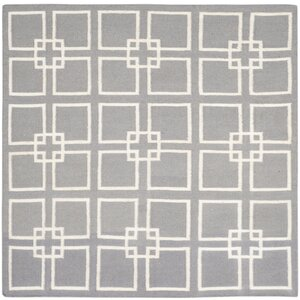 Dance Flat Weave Cement Gray Area Rug