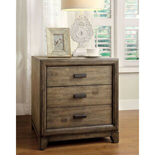 Munson 3 Drawer Nightstand by Union Rustic