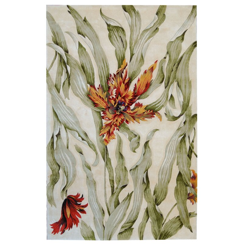 August Grove Newbury White Area Rug, Size: Rectangle 76 x 96