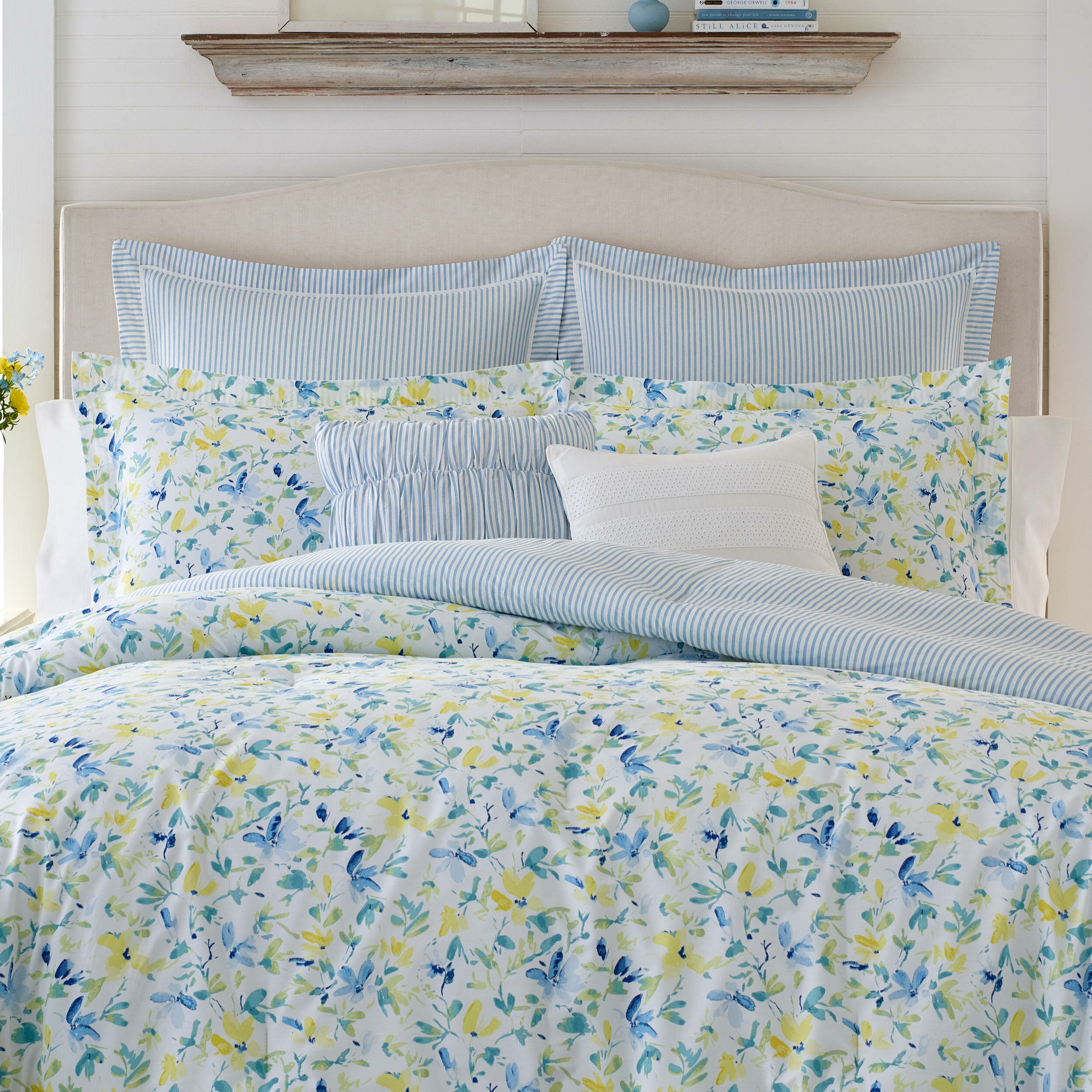 Laura Ashley Nora Reversible Comforter Set Reviews Wayfair