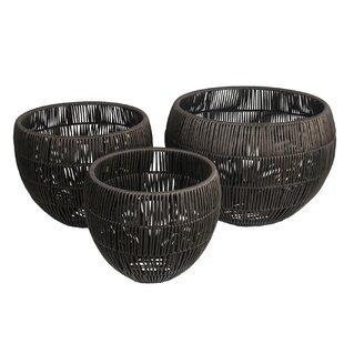 Great deal 3 Piece Resin Wicker Basket Set ByBloomsbury Market