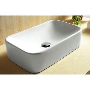 Coupon Ceramica Ceramic Rectangular Vessel Bathroom Sink By Caracalla