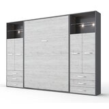 Contempo Vertical Wall Bed, European Full Size With 2 Cabinets by VVRHomes