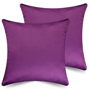 Cleckheat Solid Indoor/Outdoor Throw Pillow Covers (Set of 2)