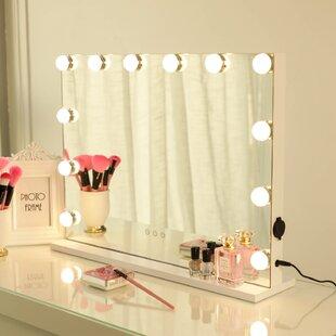 Battery Lighted Makeup Mirror Wayfair