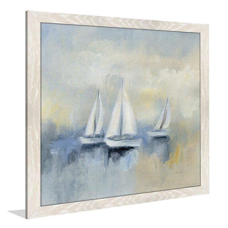 Breakwater Bay \'Morning Sail II\' Framed Acrylic Painting Print on ...