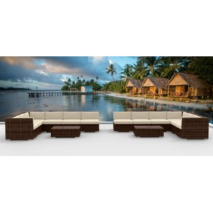 Urban Furnishings 14 Piece Sectional Set with Cushions