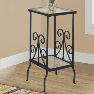 Tempered Glass End Table by Monarch Specialties Inc.