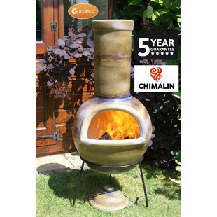 Gardeco Sempra Clay Wood Burning Chiminea