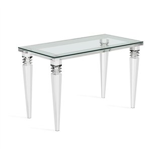 Glass Writing Desk by Interlude