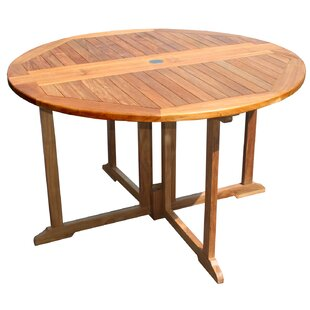 Folding Solid Wood Dining Table by Chic T..