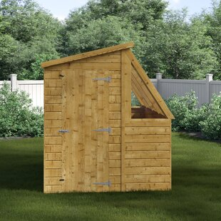 8 Ft. W X 6 Ft. D Tongue And Groove Pent Wooden Garden Shed By WFX Utility