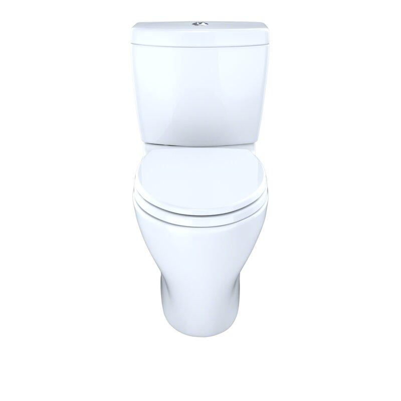 """Toilette allongée 2 pièces 1,6 GPF/0,9 GPF à double chasse avec robinetterie brute 12"""" Aquia"""
