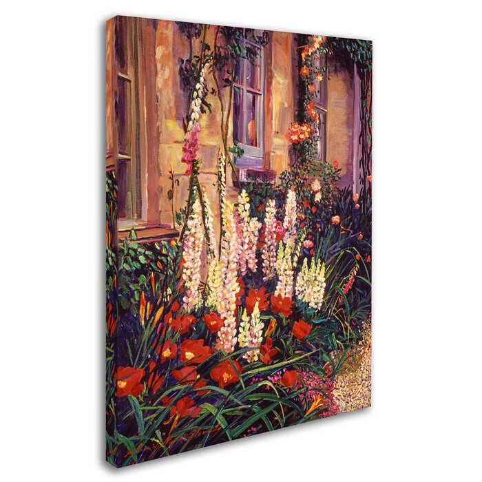 English Cottage Garden By David Lloyd Glover Painting Print On Wrapped Canvas