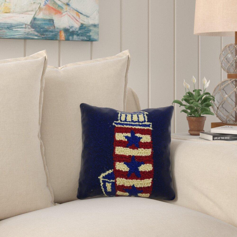 Longshore Tides Kellen Lighthouse Hook Throw Pillow Wayfair