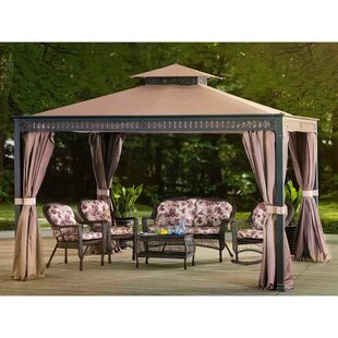 Sunjoy Bewkes 10 Ft. W x 12 Ft. D Metal Patio Gazebo