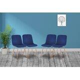 Galento Velevet Upholstered Side Chair in Blue (Set of 4) by Corrigan Studio®