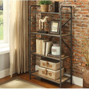 17 Stories Christofor Industrial Metal Frame Standard Bookcase