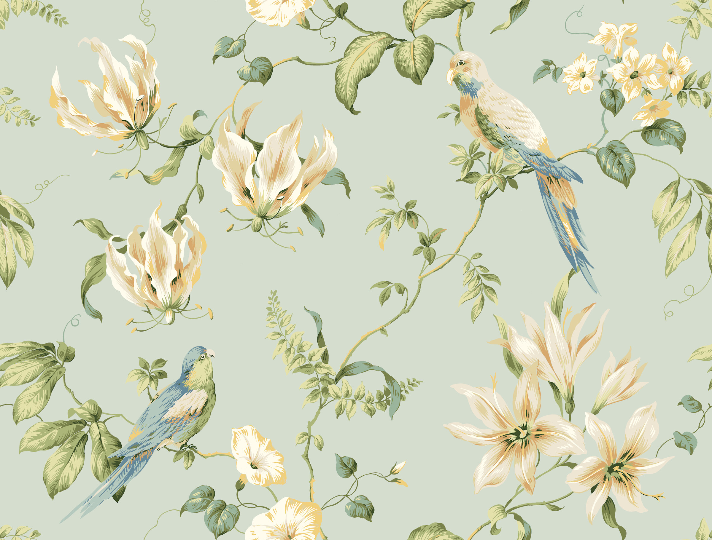 Ophelia Co Munday Tropical Floral 33 L X 27 W Wallpaper Roll