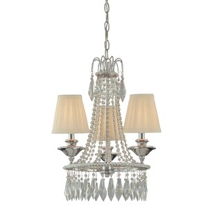 Minka Lavery 3-Light Shaded Chandelier