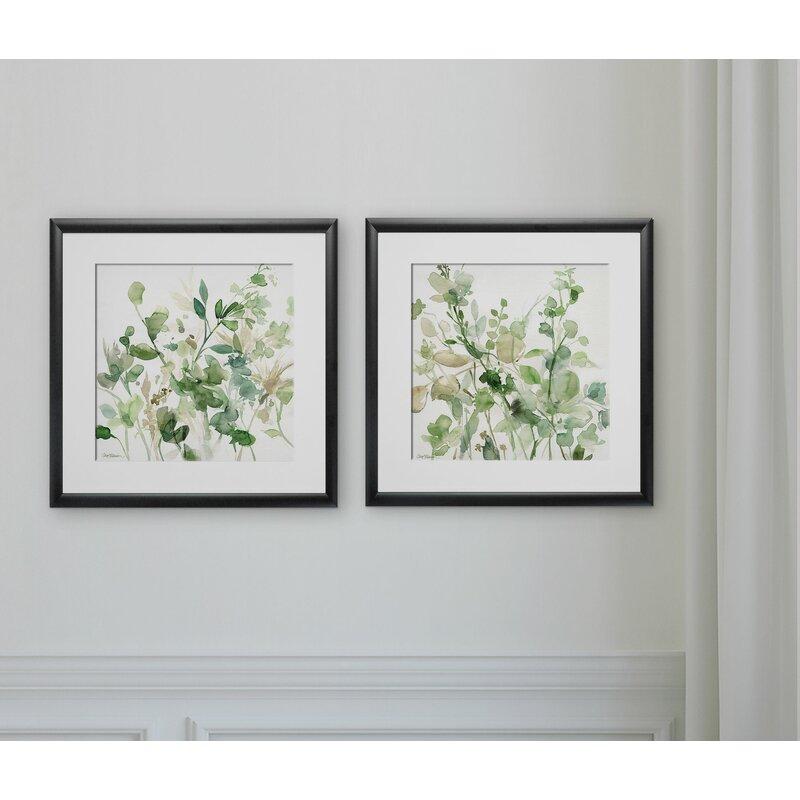 Sage Garden\' 2 Piece Framed Graphic Art Print Set & Reviews | Birch Lane