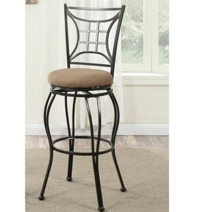 Paquet Intricate 24 Swivel Bar Stool (Set of 2) Winston Porter