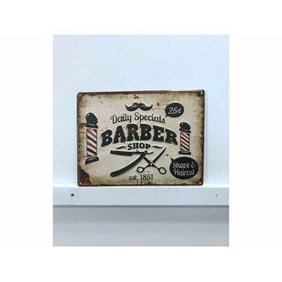 Barber Shop Vintage Metal Wall Decor