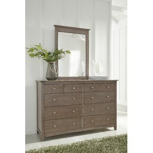 Roberta 10 Drawer Double Dresser with Mirror