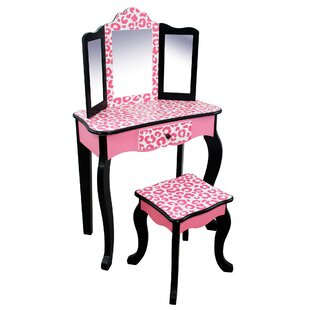 Kadence Dressing Table Set With Mirror By Harriet Bee