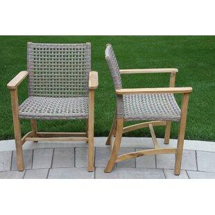 Tibbitts Teak Patio Dining Chair (Set of 2)