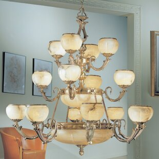 Classic Lighting Alexandria I 24-Light Shaded Chandelier