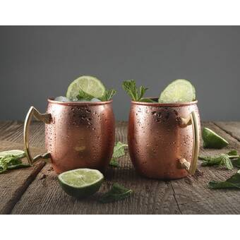 Cambridge Silversmiths Galvanized 20-Ounce Moscow Mule Mug Set of 1