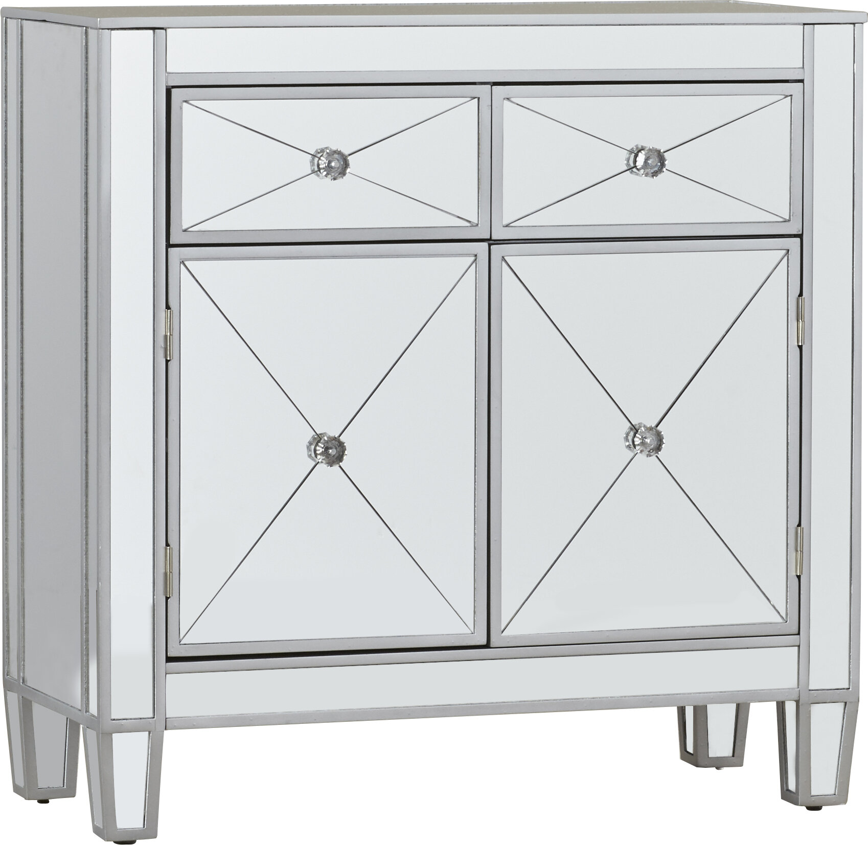 Bon Home U0026 Haus Mirage Mirrored Cabinet U0026 Reviews | Wayfair.co.uk