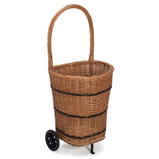 Wauseon Wicker And Rattan Trolley By Brambly Cottage