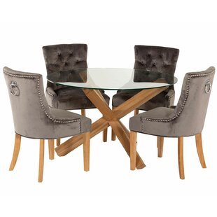 Ornella Dining Set With 4 Chairs By August Grove
