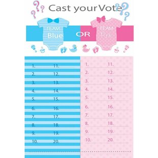 Gender Reveal Paper Disposable Tally Board