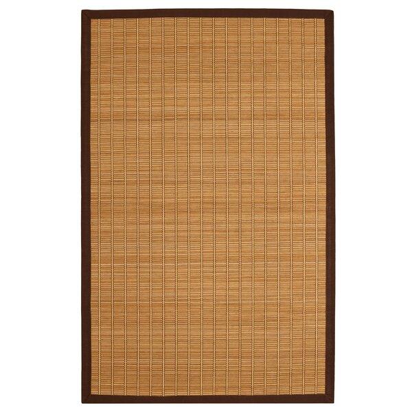 World Menagerie Govinda Handmade Bamboo Slat Brown Area Rug Reviews Wayfair