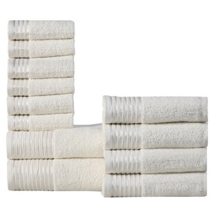Mirfield 12 Piece 100% Cotton Towel Set