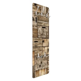 Vintage Wooden Boxes Wall Mounted Coat Rack By Symple Stuff