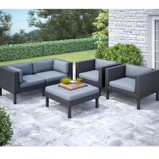 Wolfsburg 5 Piece Sofa Set with Cushions